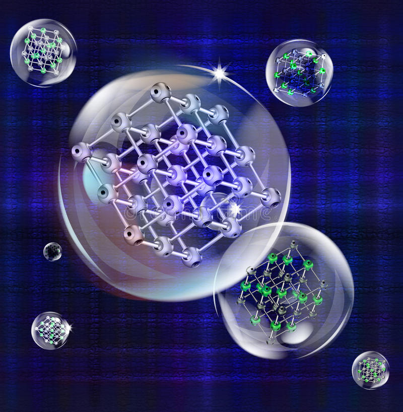 The newest technologies of scientific researches stock illustration