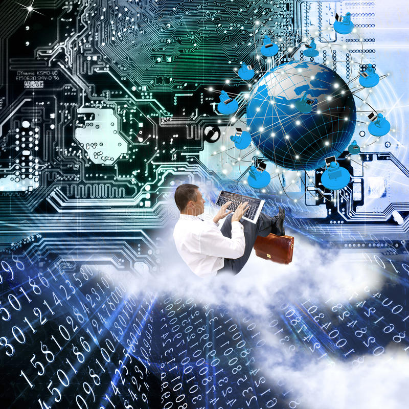 The newest the technology Internet. Modern innovation compiting technology.Globalization digital connection technology stock photos