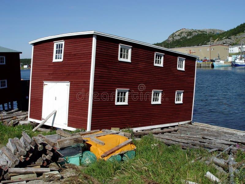 Newfoundland fishing stage royalty free stock image