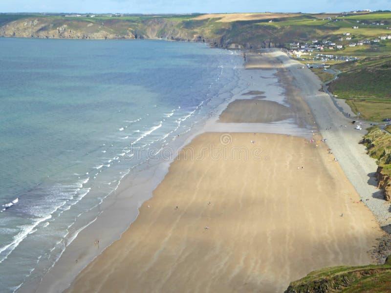 Newgale Beach, St Brides Bay, Walia obraz royalty free