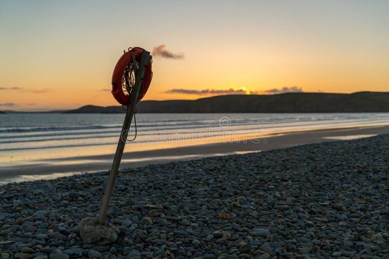 Newgale plaża, Pembrokeshire, Dyfed, Walia, UK obraz stock