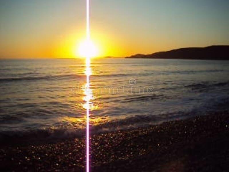 Newgale Sunset stock images