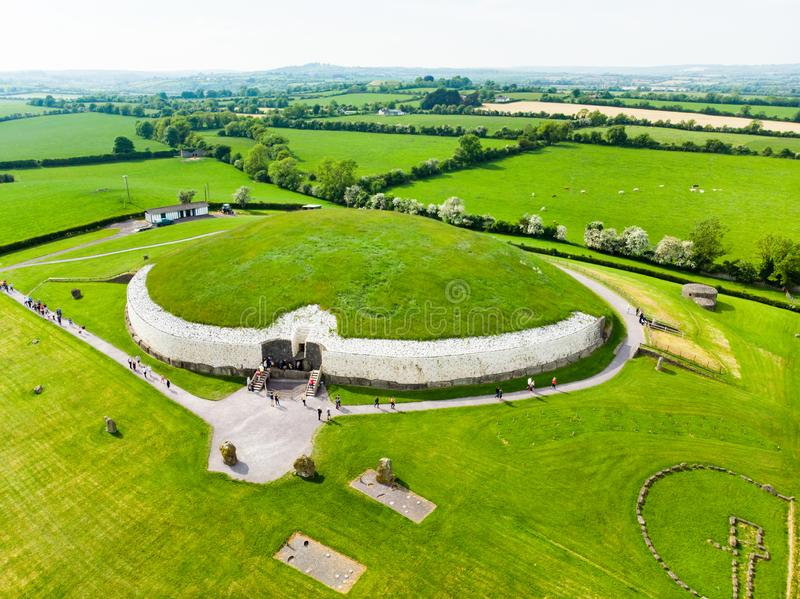Newgrange, a prehistoric monument built during the Neolithic period, located in County Meath, Ireland. UNESCO World Heritage Site. Newgrange, a prehistoric stock photo