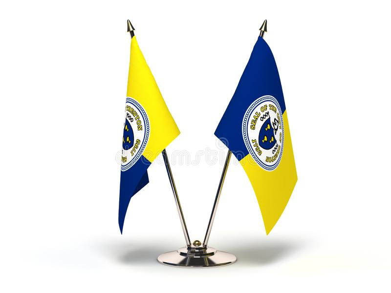 NewJersey Trenton Flag. New Jersey Trenton Flag Flags Isolated with clipping path stock illustration