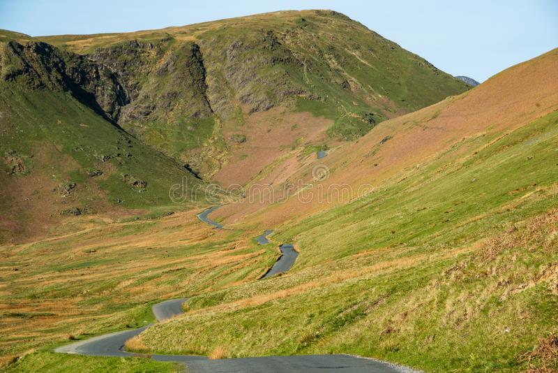 Newlands Pass in the English Lake District stock images