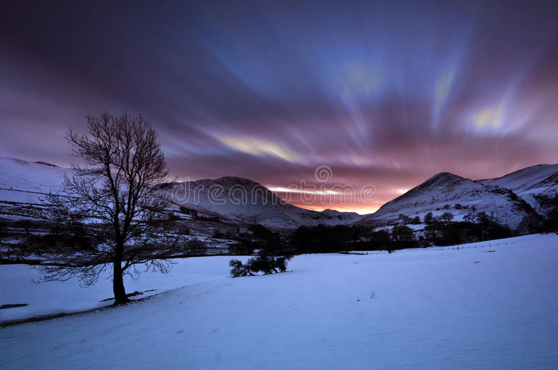 Newlands Valley. In the Lake District stock image