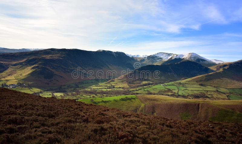 The Newlands Valley and mountains stock photos