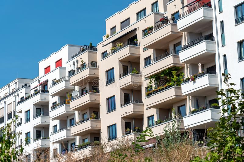 Newly built apartment buildings. Seen in Berlin, Germany royalty free stock image