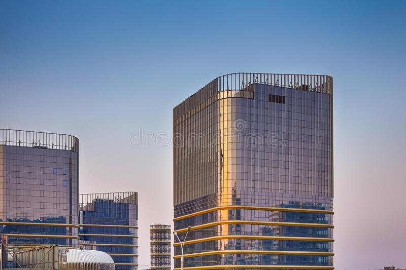 Newly Built Buildings with Appropriate Surrounding Infsrastructure. Horizontal image royalty free stock image