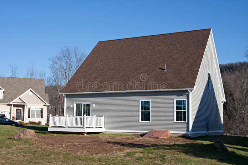 Download Newly Built House Rear Stock Photo - Image: 24582000