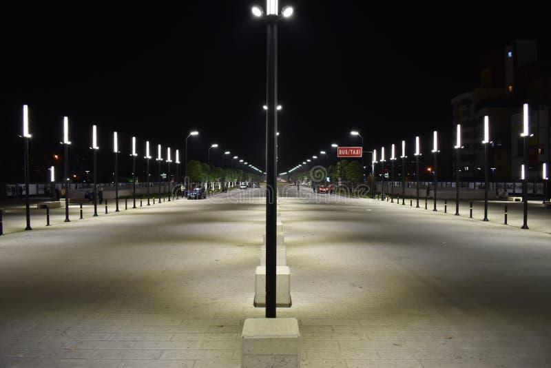 The newly built `New Boulevard of Tirana` royalty free stock photography