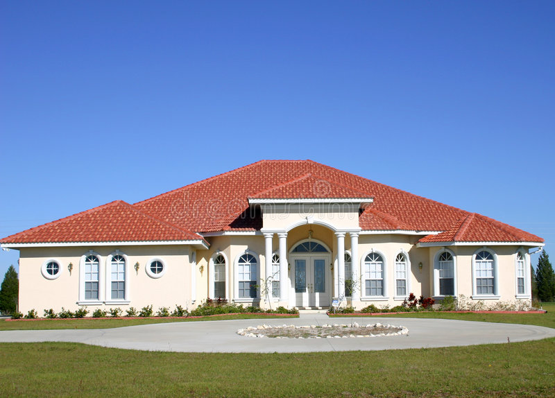 Newly constructed home stock photos