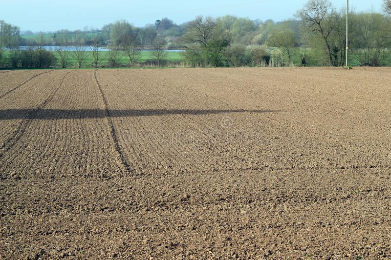 Newly plowed or ploughed land. royalty free stock photos