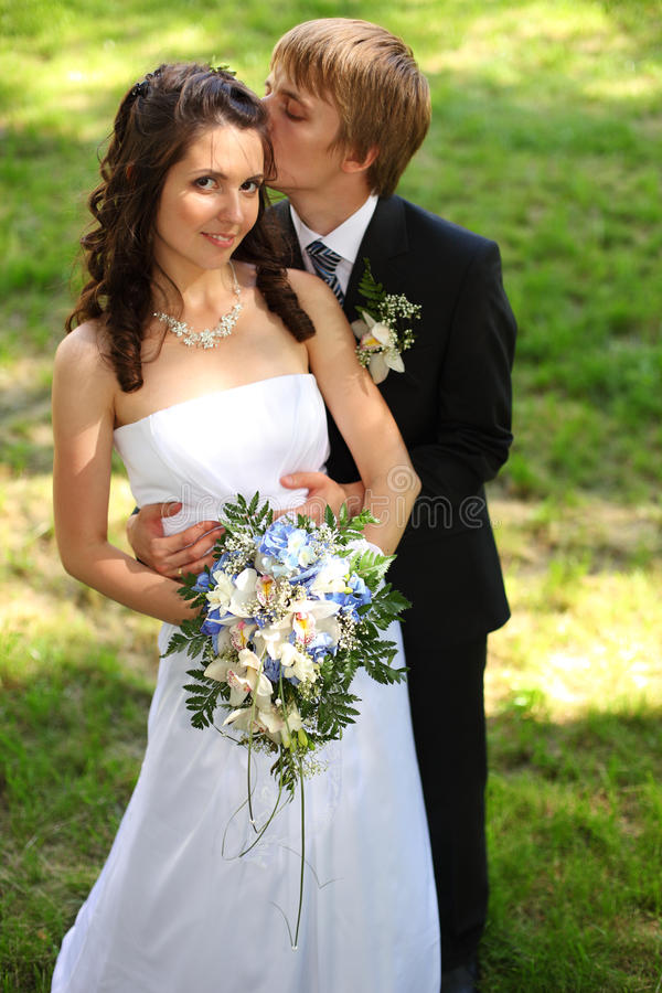Download Newly Married couple stock photo. Image of above, fashion - 15235788