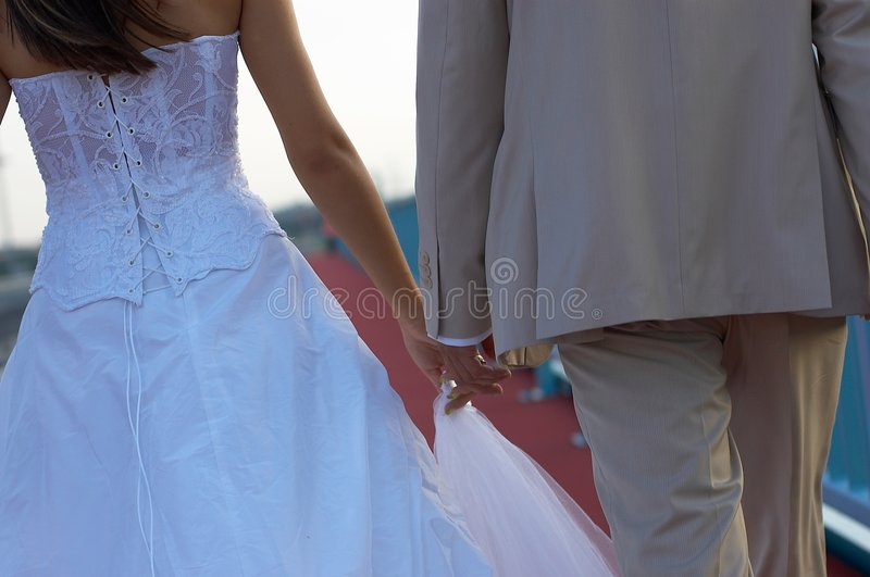 Download Newly married couple stock photo. Image of couple, hands - 3525752