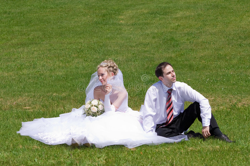 Download Newly-married couple stock image. Image of married, green - 3600491