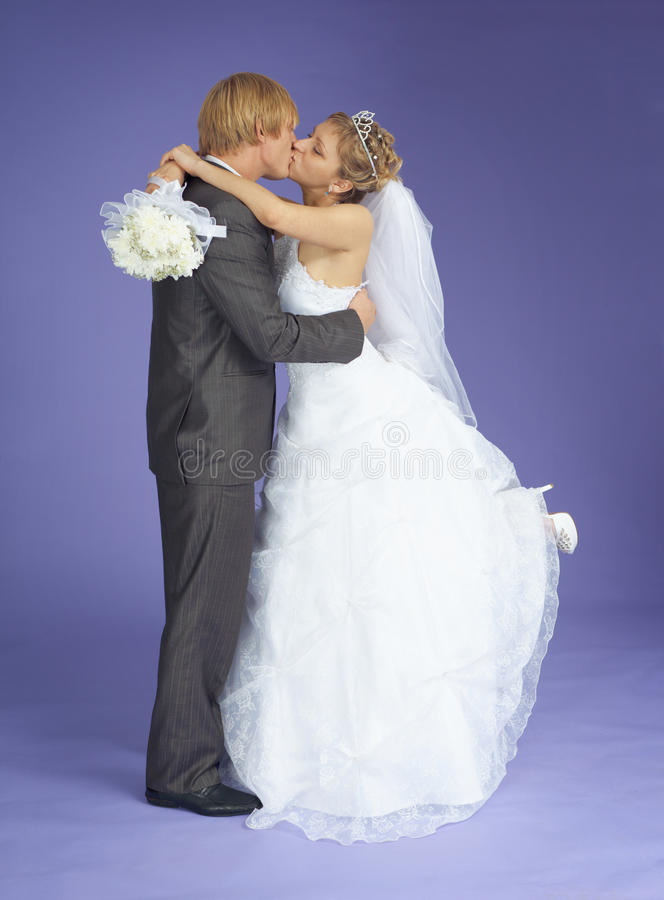 Download Newly-married Couple Kisses Stock Image - Image: 15645001