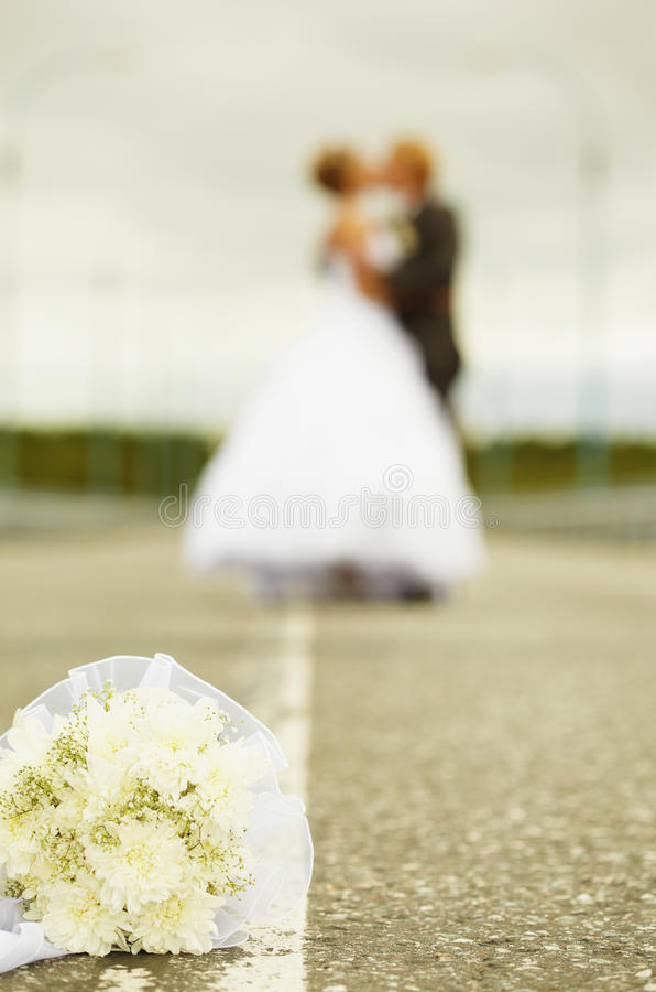 Newly Married Kiss Stock Photos