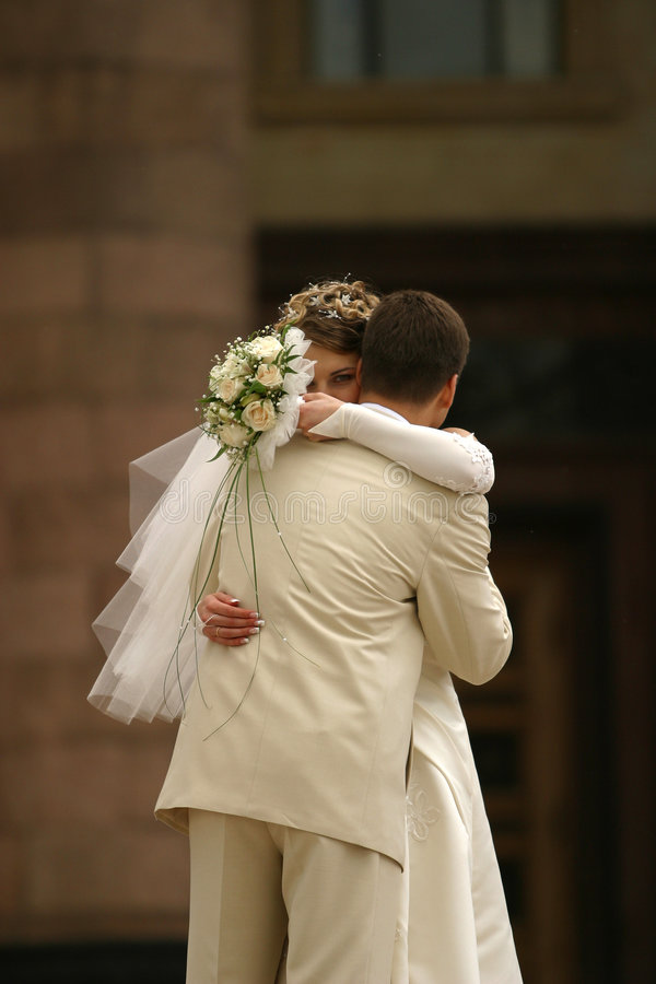 Newly married pair royalty free stock images