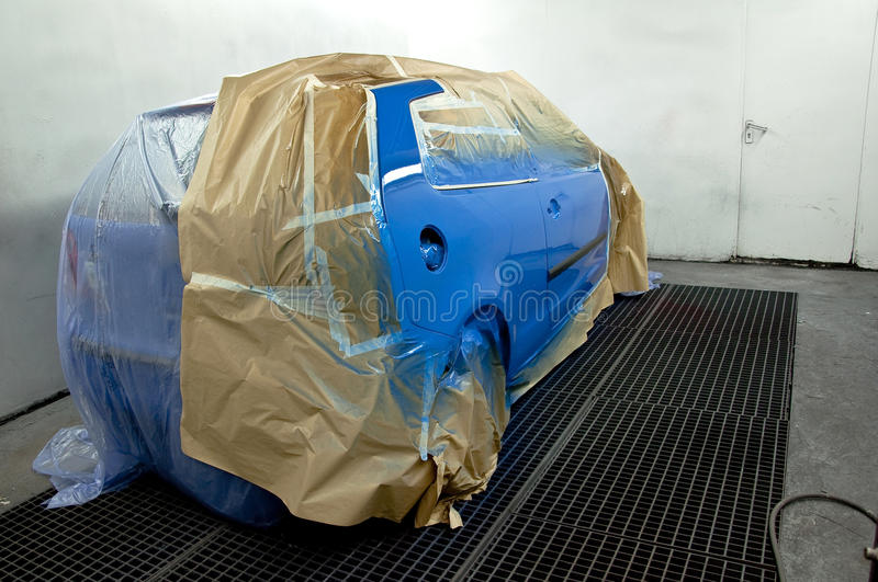 Newly painted car. royalty free stock photography