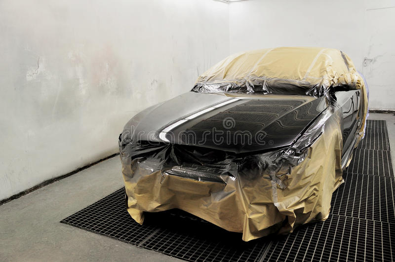 Newly painted car. royalty free stock photo