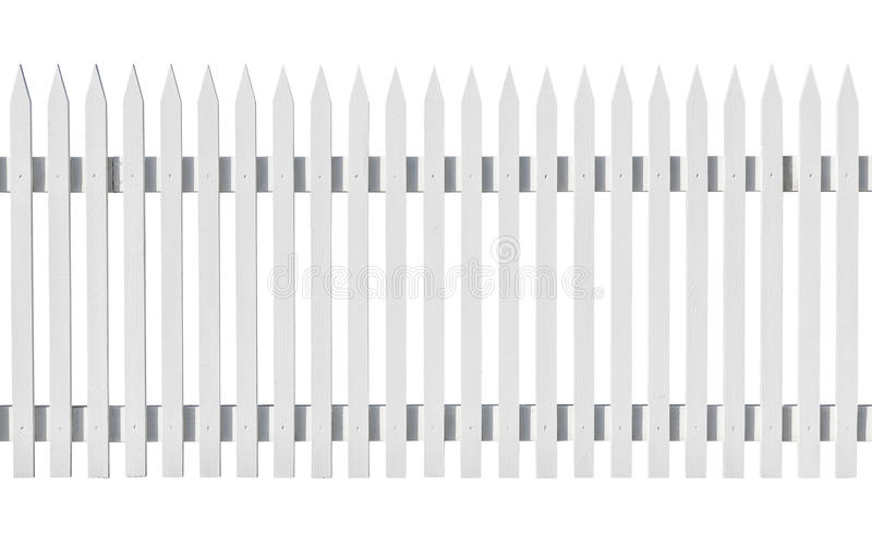 Download White Picked Fence Isolated On White Stock Photo - Image of sunlight, outdoors: 30281270