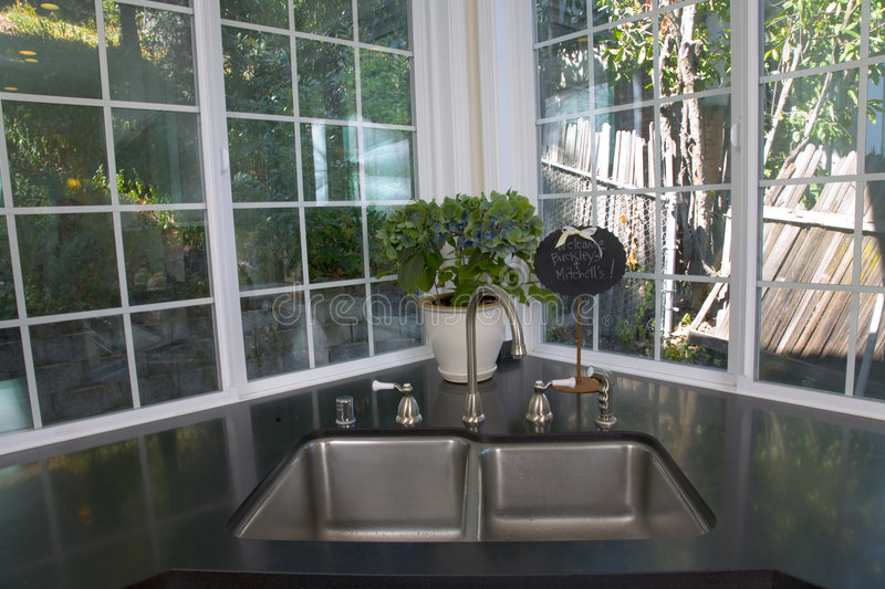 Download Newly Remodeled White Kitchen Stock Image - Image: 1293887