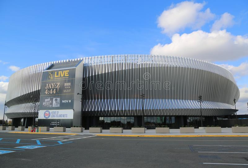 The newly renovated Nassau Veterans Memorial Coliseum in Uniondale, NY. royalty free stock image