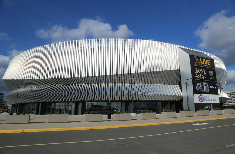 The newly renovated Nassau Veterans Memorial Coliseum in Uniondale, NY. stock photo