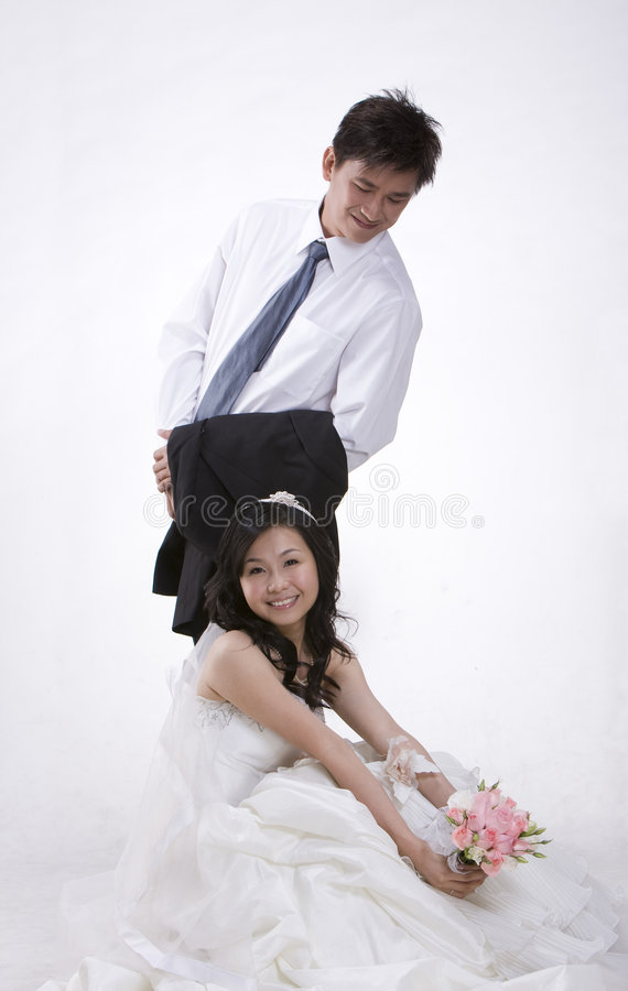 Newly Wed Couple 2 Royalty Free Stock Photos