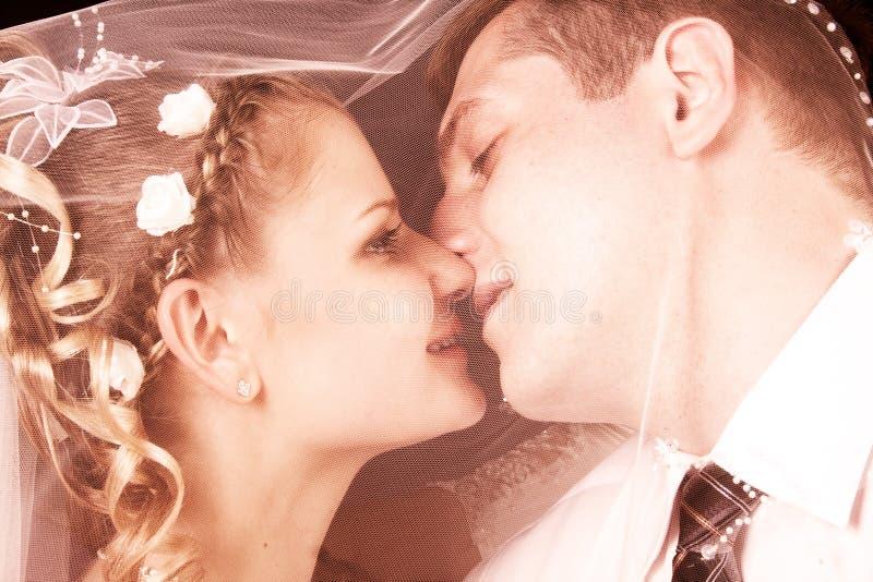 Newly-wed feliz imagen de archivo