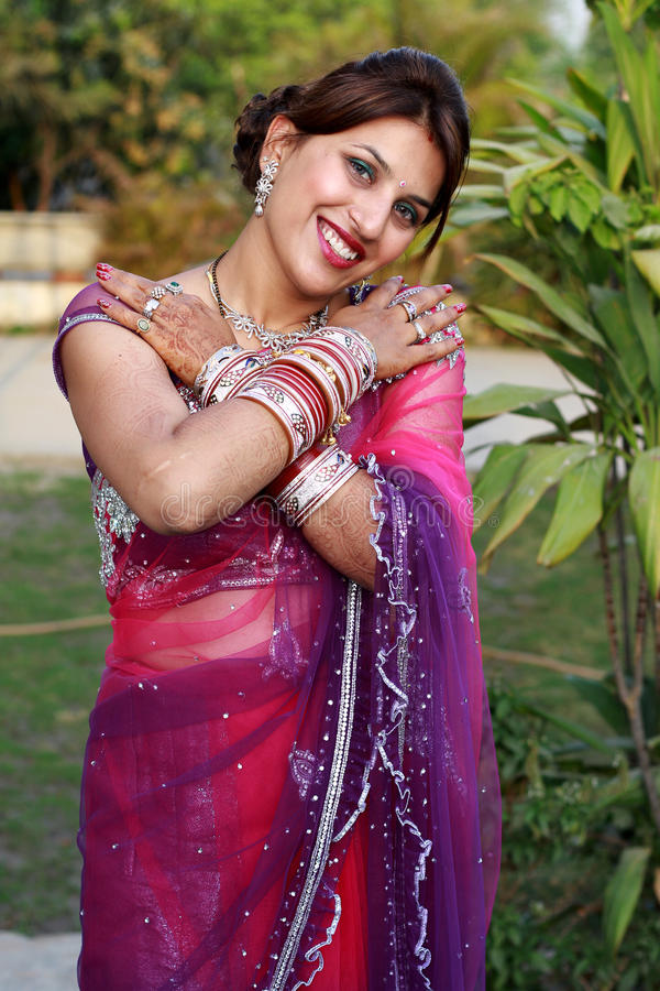 Download Newly wedded girl stock image. Image of metal, bracelets - 24348473