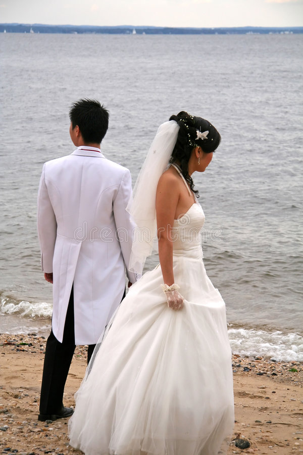 Download Newly Weds At The Beach Stock Photo - Image: 1719770