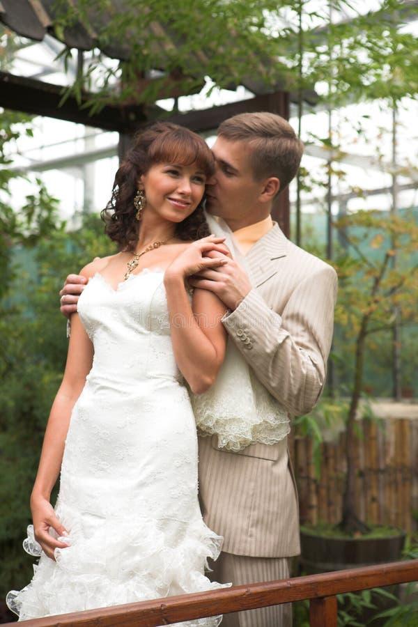 newlyweds περίπατος στοκ εικόνες με δικαίωμα ελεύθερης χρήσης