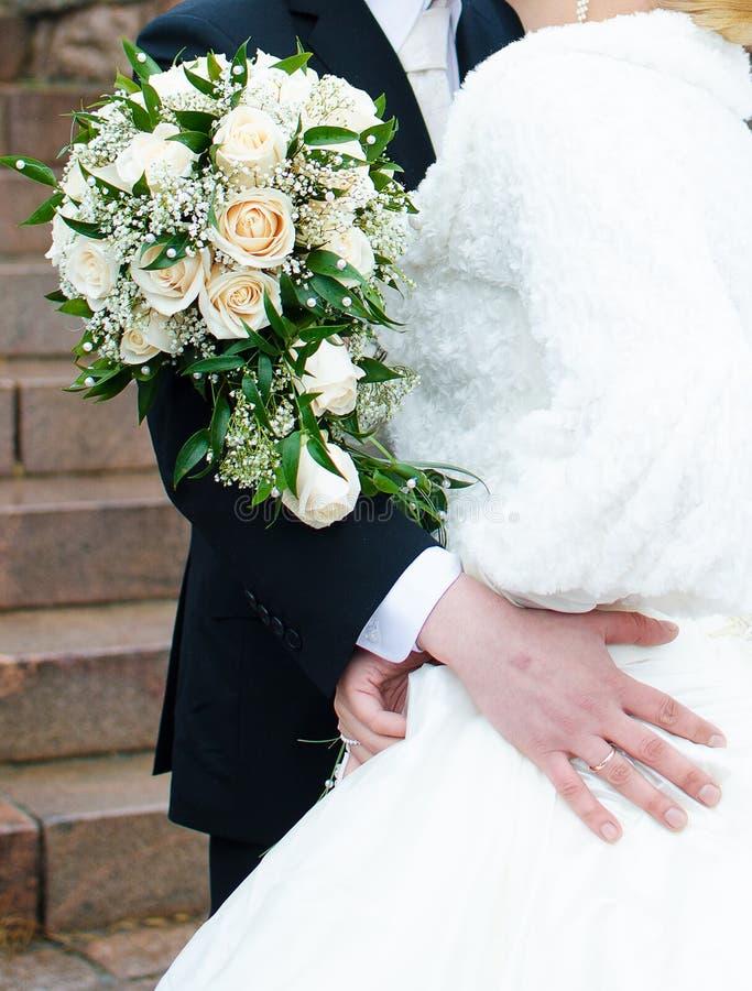 newlyweds imágenes de archivo libres de regalías