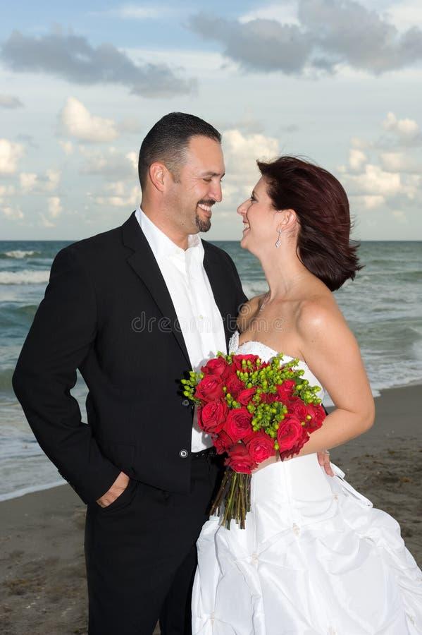 Newlyweds stock image