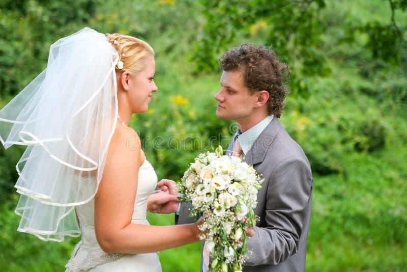 Newlyweds immagine stock