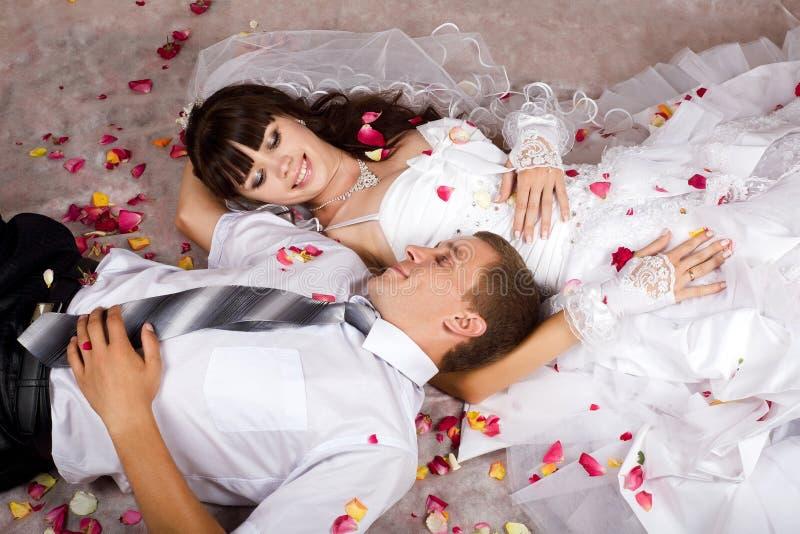 newlyweds imagen de archivo libre de regalías