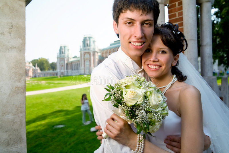 newlyweds στοκ εικόνες