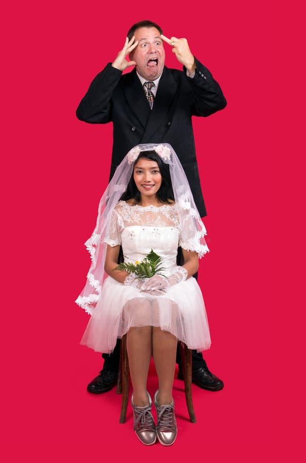 newlyweds foto de archivo libre de regalías