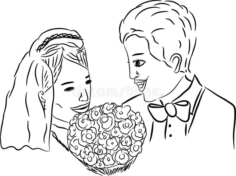 Download Newlyweds stock illustration. Image of groom, graphic - 38531044