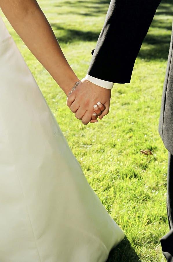 Newlyweds junto fotografia de stock royalty free
