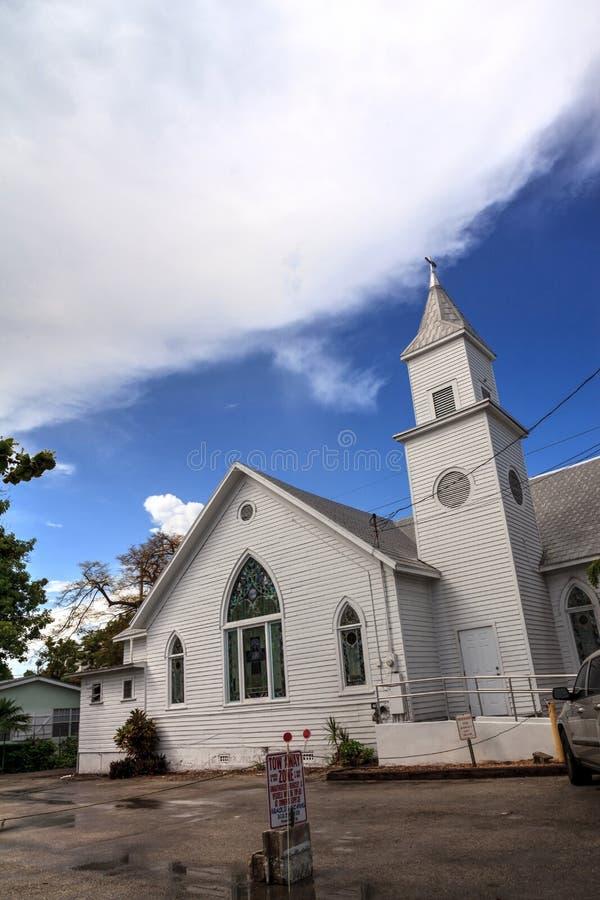 Newman-Evangelisch-methodistische Kirche in Key West, Florida stockbild