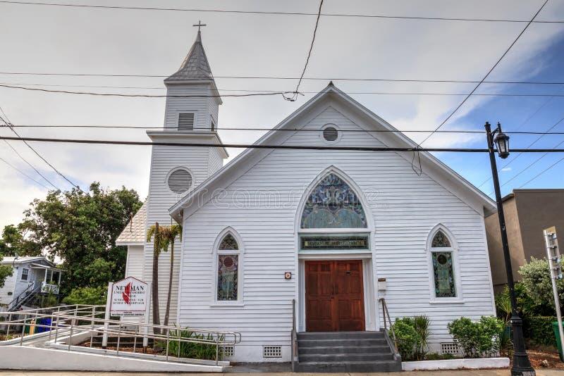 Newman-Evangelisch-methodistische Kirche in Key West, Florida stockfotografie
