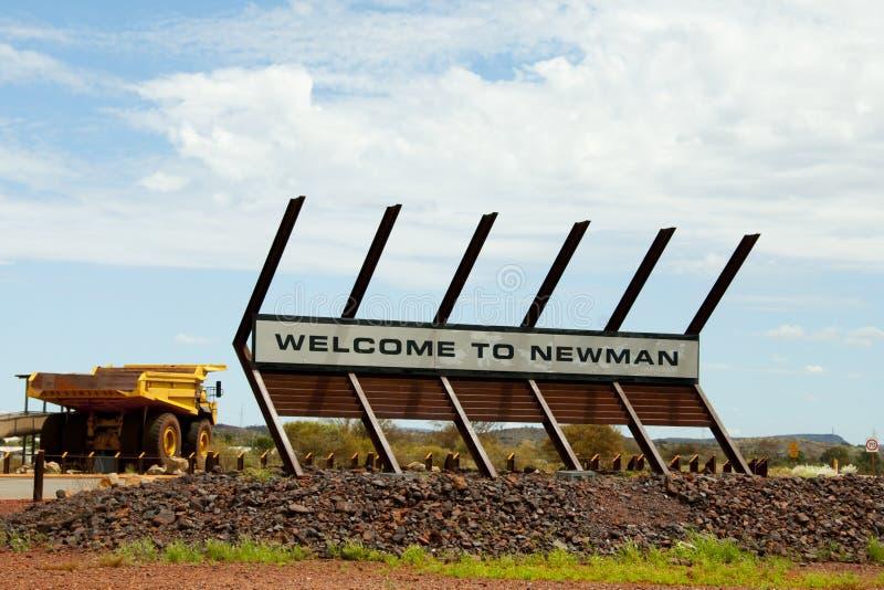 Newman-Stadtzeichen stockfotografie