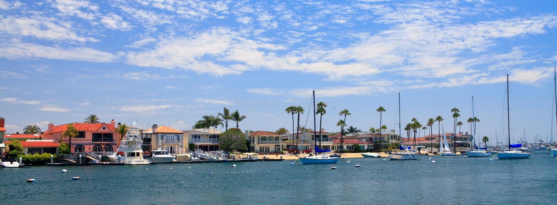 Newport Beach in California royalty free stock photo