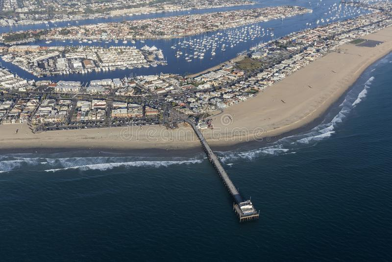 Newport Beach mola antena w orange countym Kalifornia obrazy royalty free