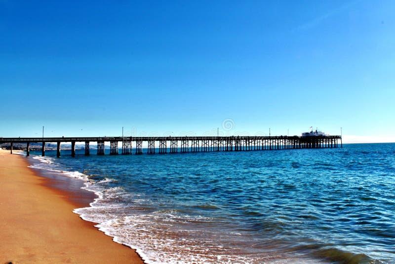 Newport Beach molo fotografia stock