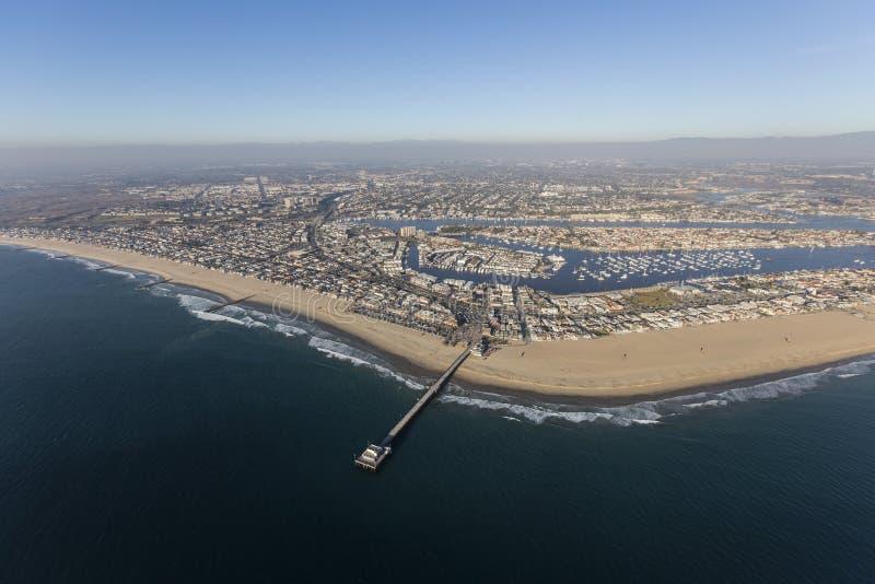 Newport Beach molo w orange countym Kalifornia obrazy royalty free