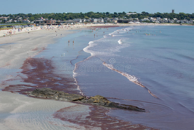 Newport beach Rhode Island, USA stock image